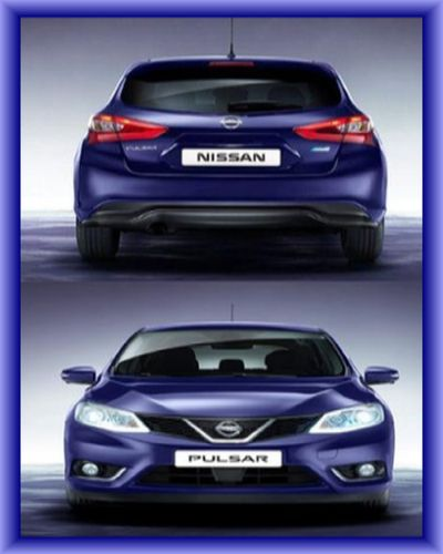 2015 Nissan Pulsar front and back