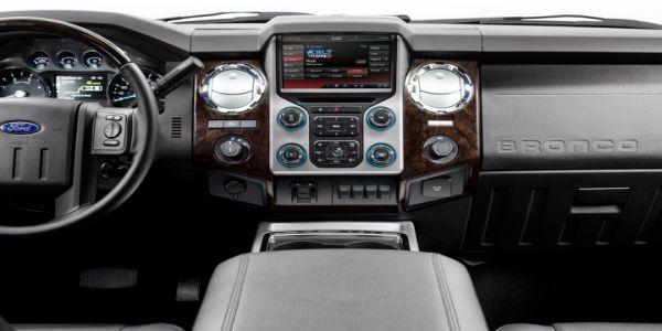 2016 Bronco interior